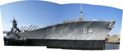panarama of battleship