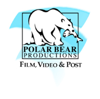 Polar Bear Productions Logo design with blue swath