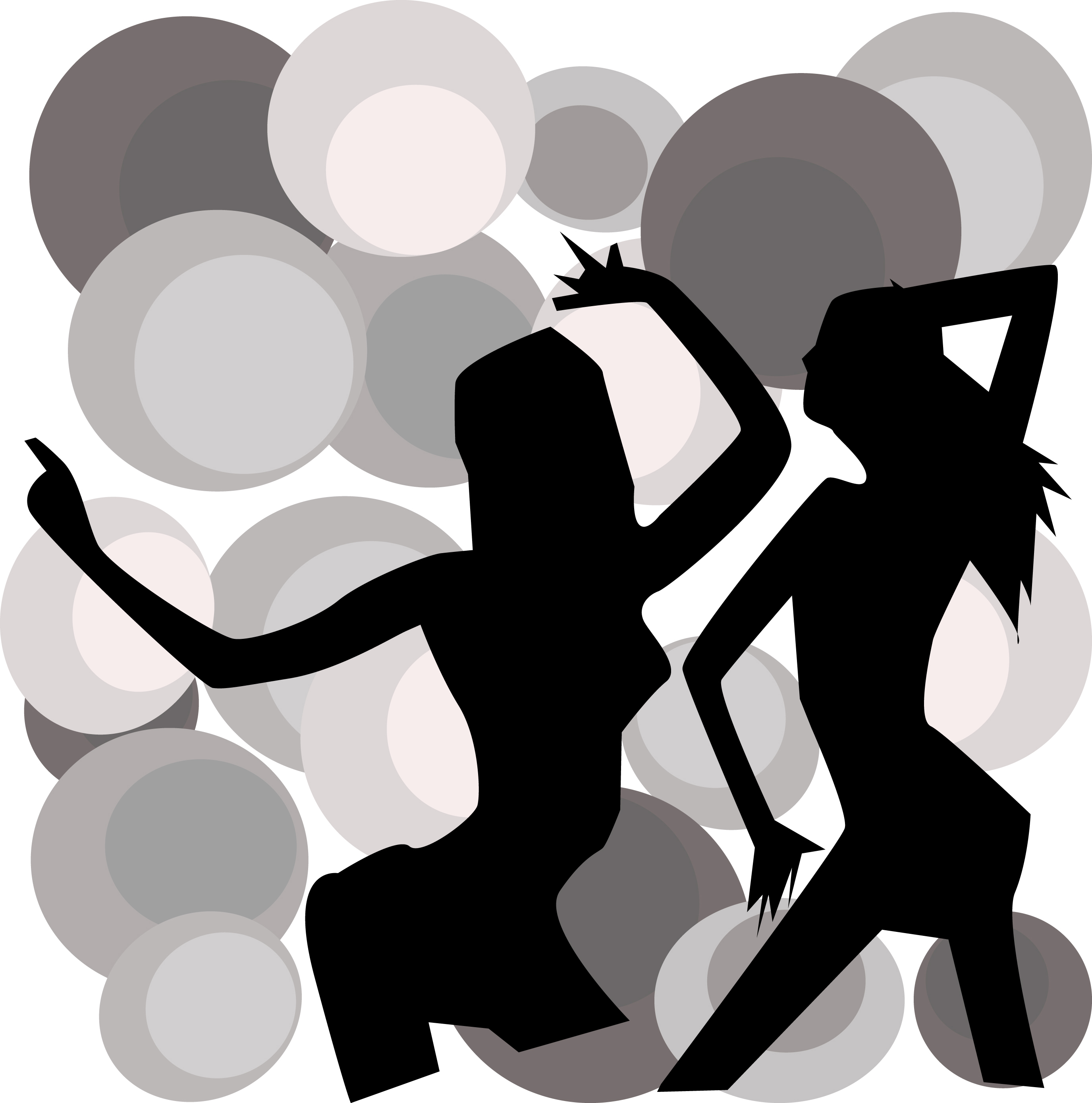 Adobe Illustrator work of dancing girls 1970 look